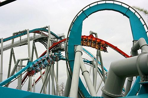 Dragon challenge wie alle coaster musste auch dieser ohne uns fahren