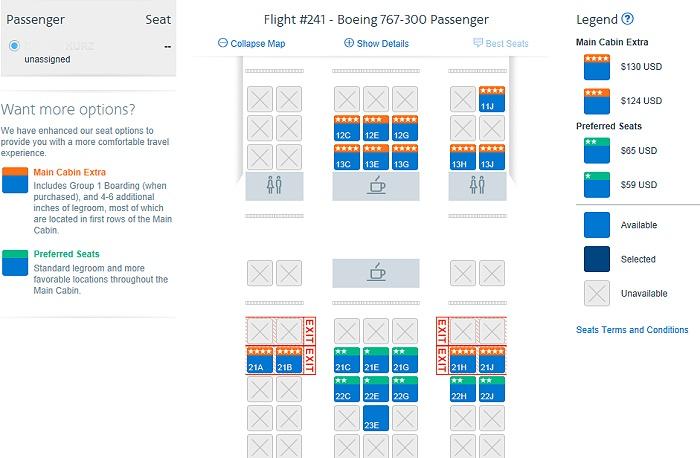 Lalas Reisen Sitzplatzabstand American Airlines