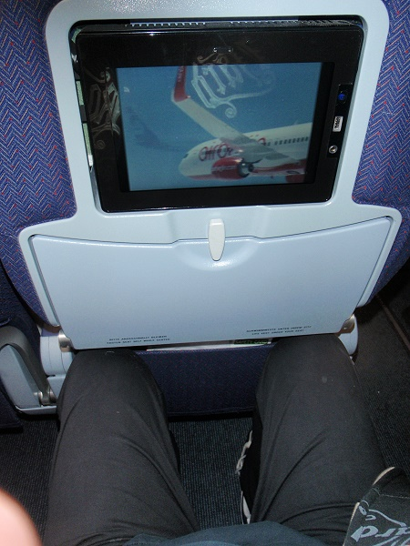 Air Berlin A 330 Sitz mit Inseat Entertainment