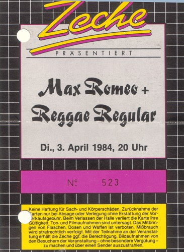 Max Romeo & Reggae Regular