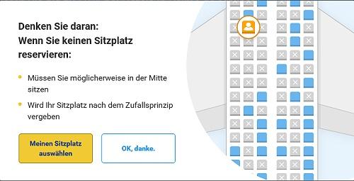 Lalas Reisen - Sitzplatzabstand Ryanair