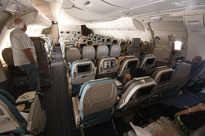 Singapore Airlines A 380 - Economy Upper Deck
