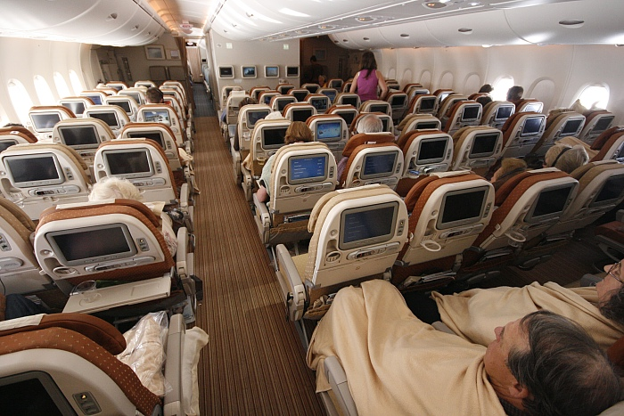 Singapore Airlines A 380 - Economy Lower Deck