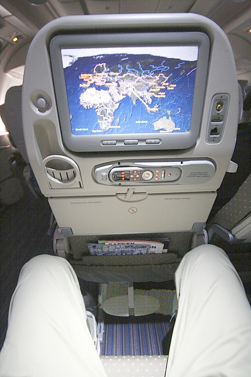 Singapore Airlines A 380 - Sitzplatzabstand und Entertainment System