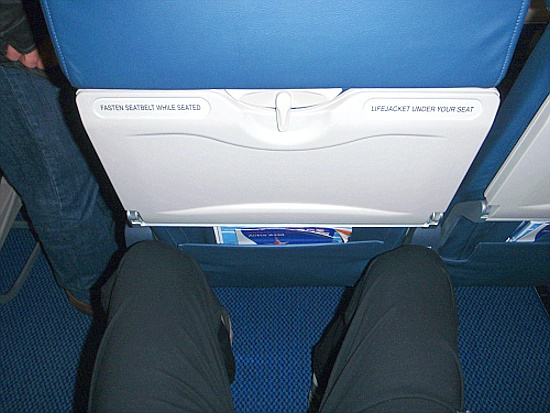 Sitzplatzabstand British Airways Airbus 320